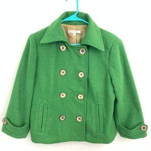 Cabi Green Pea Coat Size Size 6